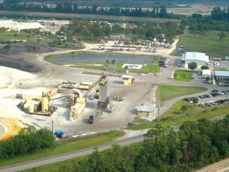 Ranger Construction operates seven asphalt plants strategically located throughout its market areas in Florida. Above is the Ft. Pierce office, shop and plant. (Photo by Bob Schafer)