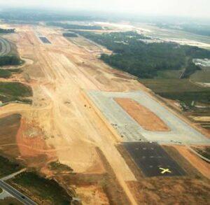Recycled Asphalt Flies at Greensboro Airport Job