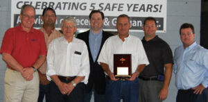 Sharpe Tops Five Years With No 'Lost-Time' Incidents