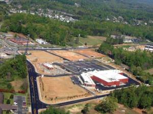 Recent Sharpe Bros. projects included road work and paving services for a new shopping center in Greensboro, NC.