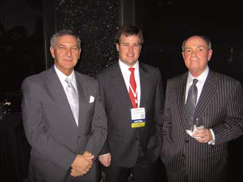 Mike Slade, Christopher Vecellio and Jim Hurley chat during ARTBA's national convention in Ft. Lauderdale in October.